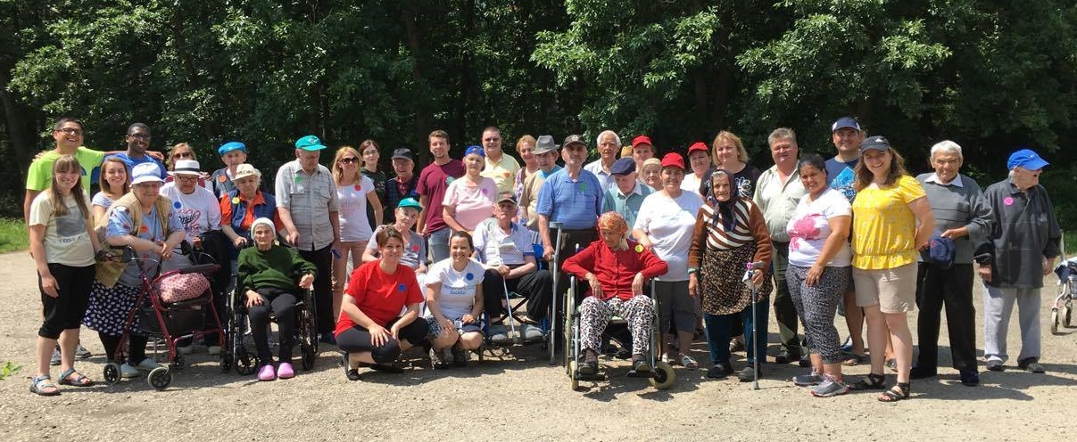 Elderly and Staff Group photo