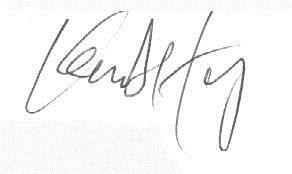 Kevin's signature