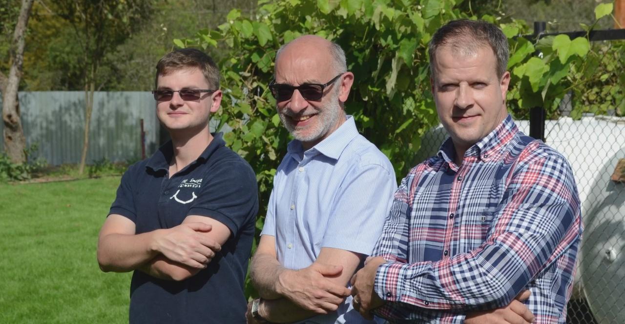 Luke with Colin and Ian