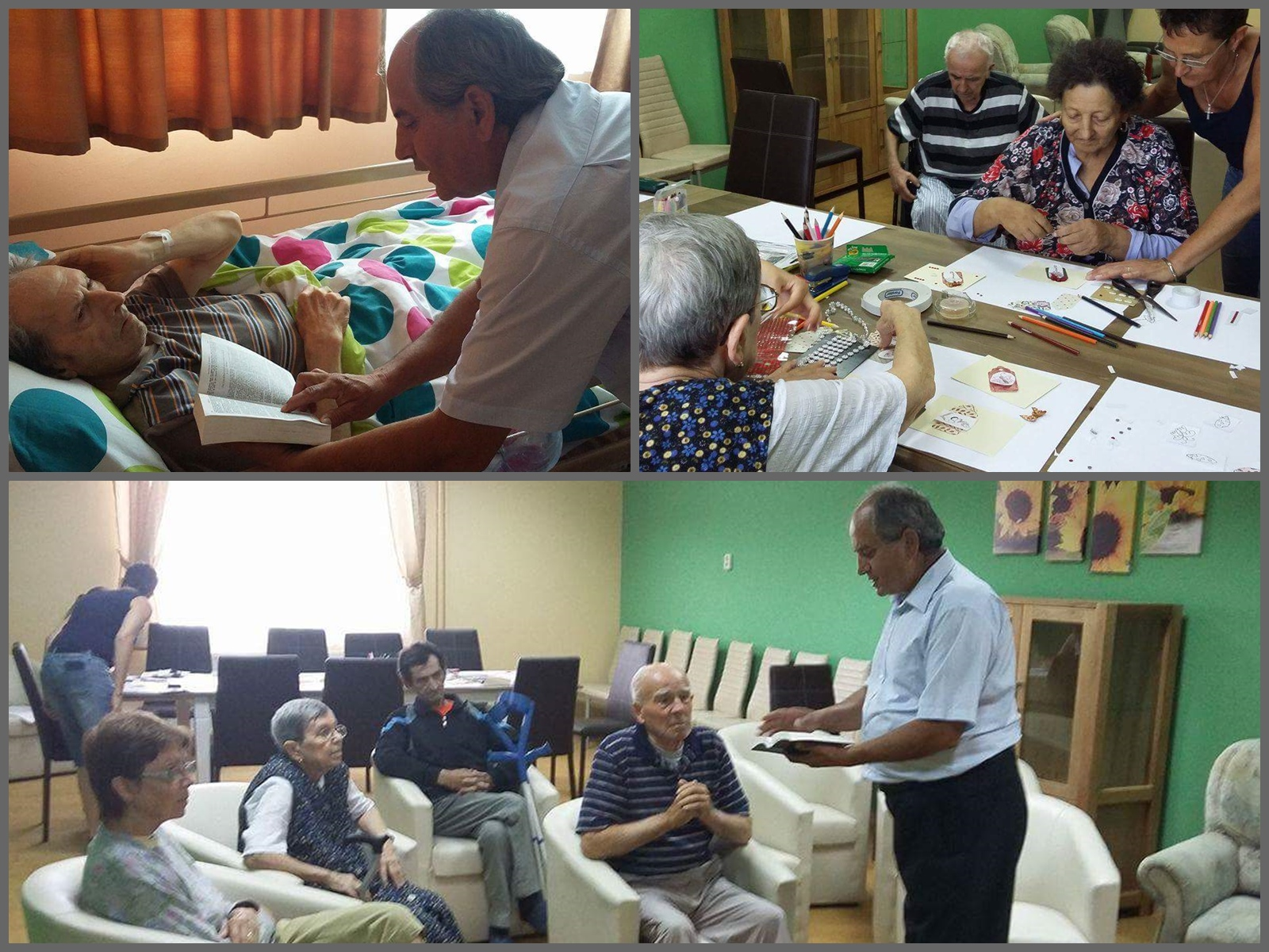 Pastor Vasile at Tileagd Assisted Living