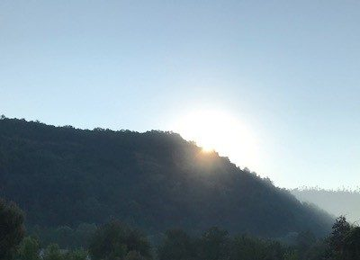 Sunrise over Dezna
