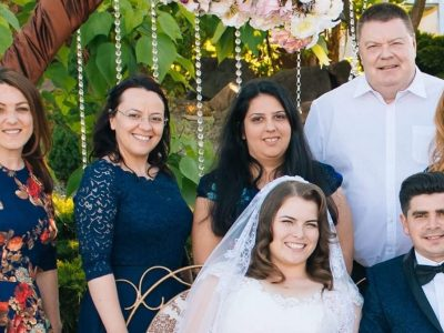 Georgi at Rebeca and Gabi's wedding