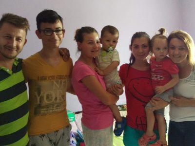 Maria with the Potioc family