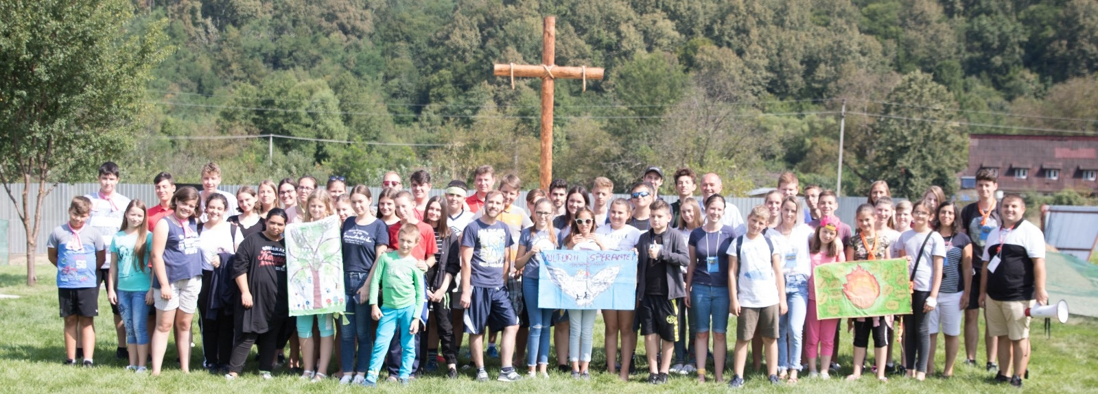 Group at the Dezna cross