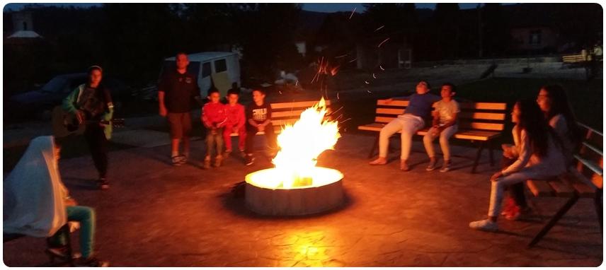 Camp fire at Dezna