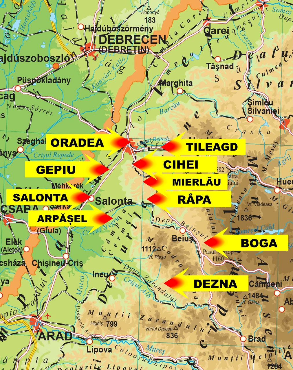 Smiles Projects in Romania Map