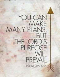 The Lord's plans