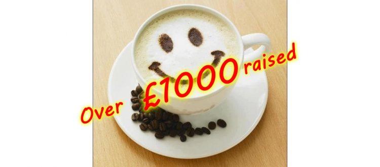 Over £1,000 raised