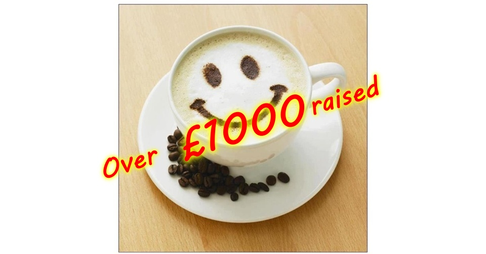 Over £1,000 raised