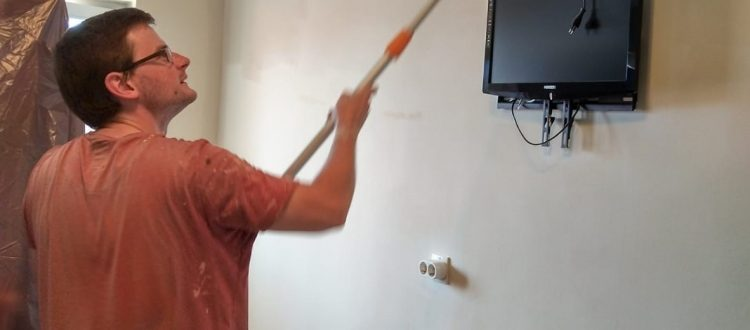 Luke painting at JFL