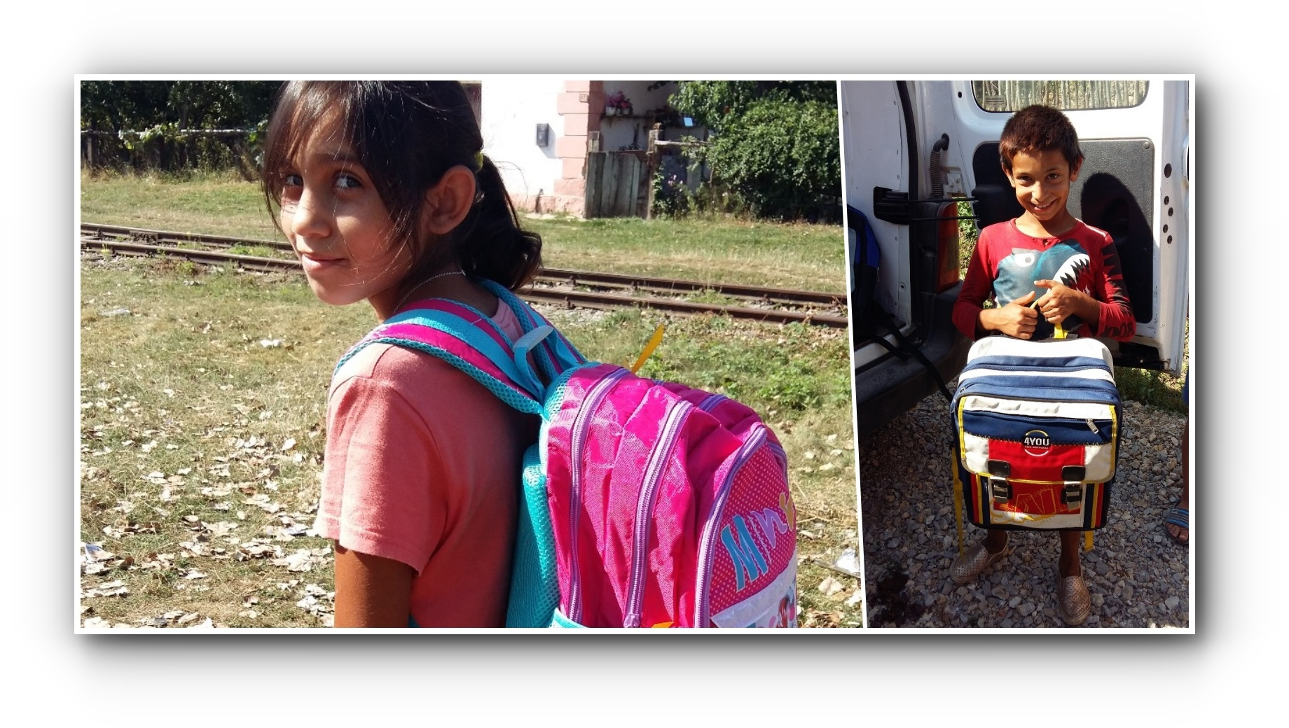 Backpacks ready for school